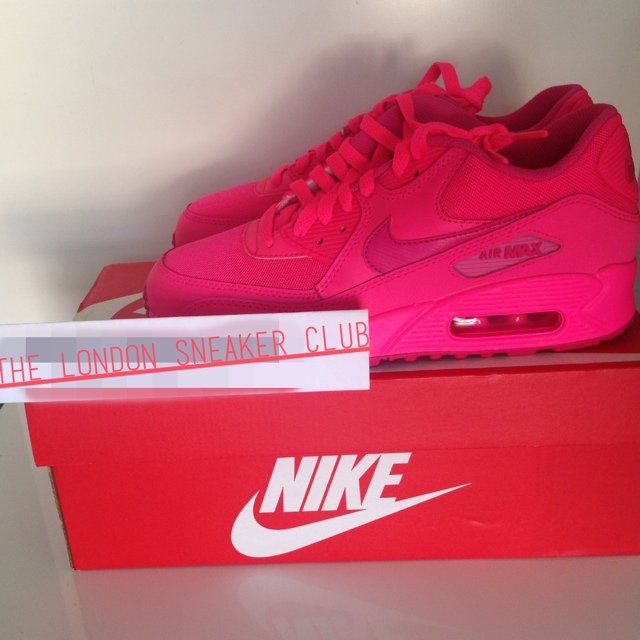 34e6103fce ... wholesale the london sneaker club nike air max 90 gs vivid pink hyper  pink depop 63290