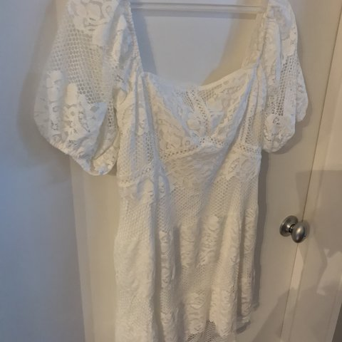 d0df17d29591 @leosmommy12. 7 months ago. Brookhaven, United States. NWT FREE PEOPLE BE YOUR  BABY LACE MINI DRESS
