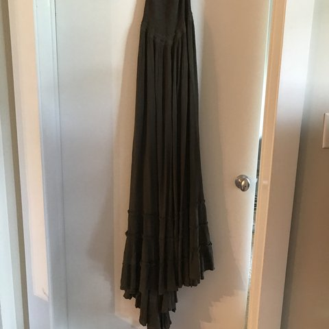 1bbaabb3b6e3 NWOT free people extratropical maxi dress Crinkly strapless - Depop