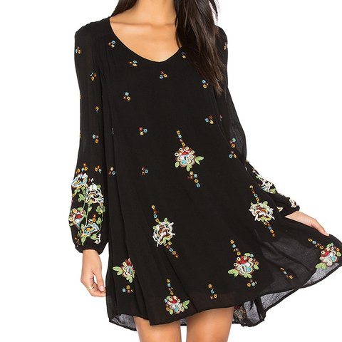 f593845eb53ab @leosmommy12. 6 months ago. Brookhaven, United States. NWT FREE PEOPLE  OXFORD MINI DRESS