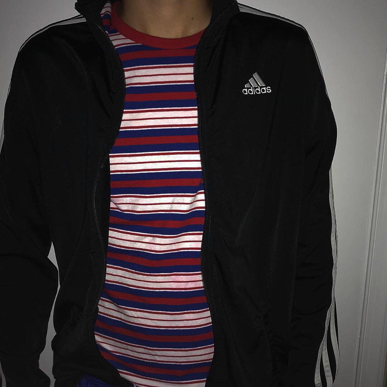 165813f2520e Black Adidas Track Sweater In perfect conditions Model size - Depop