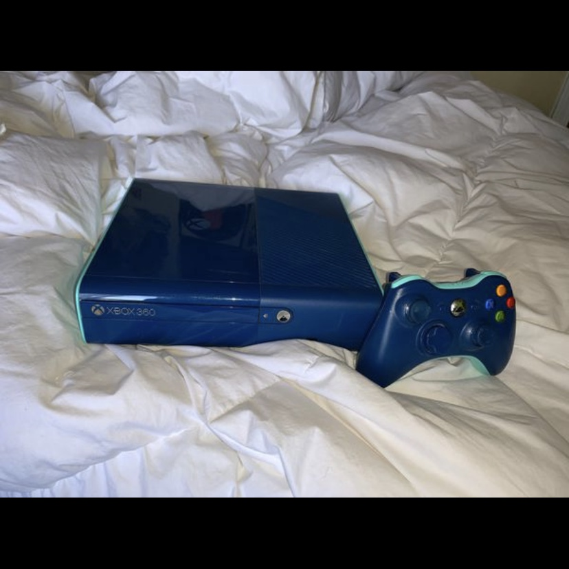 Special Edition Blue Xbox 360 (new version) -    - Depop