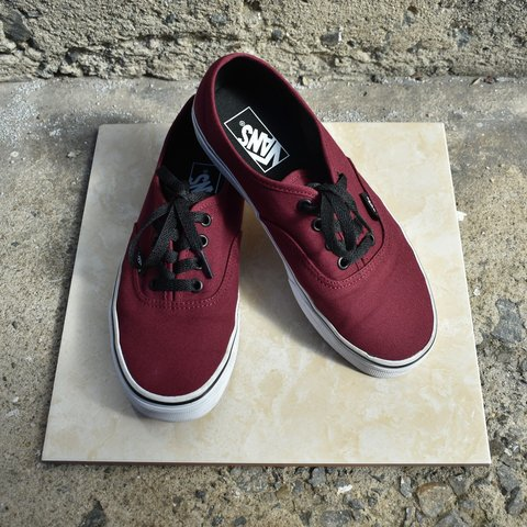 059a9b9b05b66e Item  Vans Authentic ~Color  Port Royale Red Black ~Size    - Depop