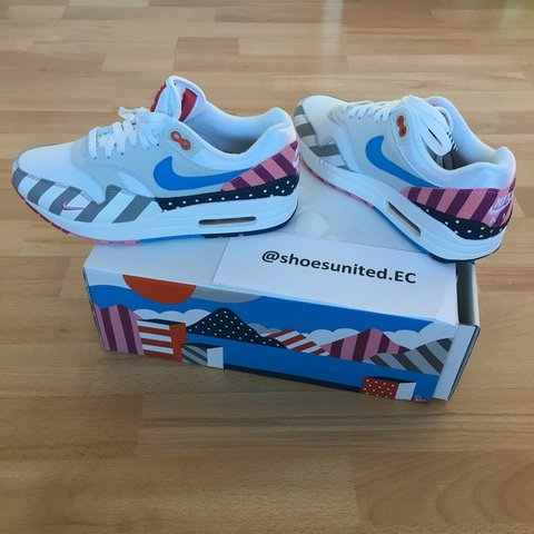 95bf82627569b8 NIKE X PARRA 2018 AIR MAX 1 WHITE MULTI COLOURED UK SIZE - Depop