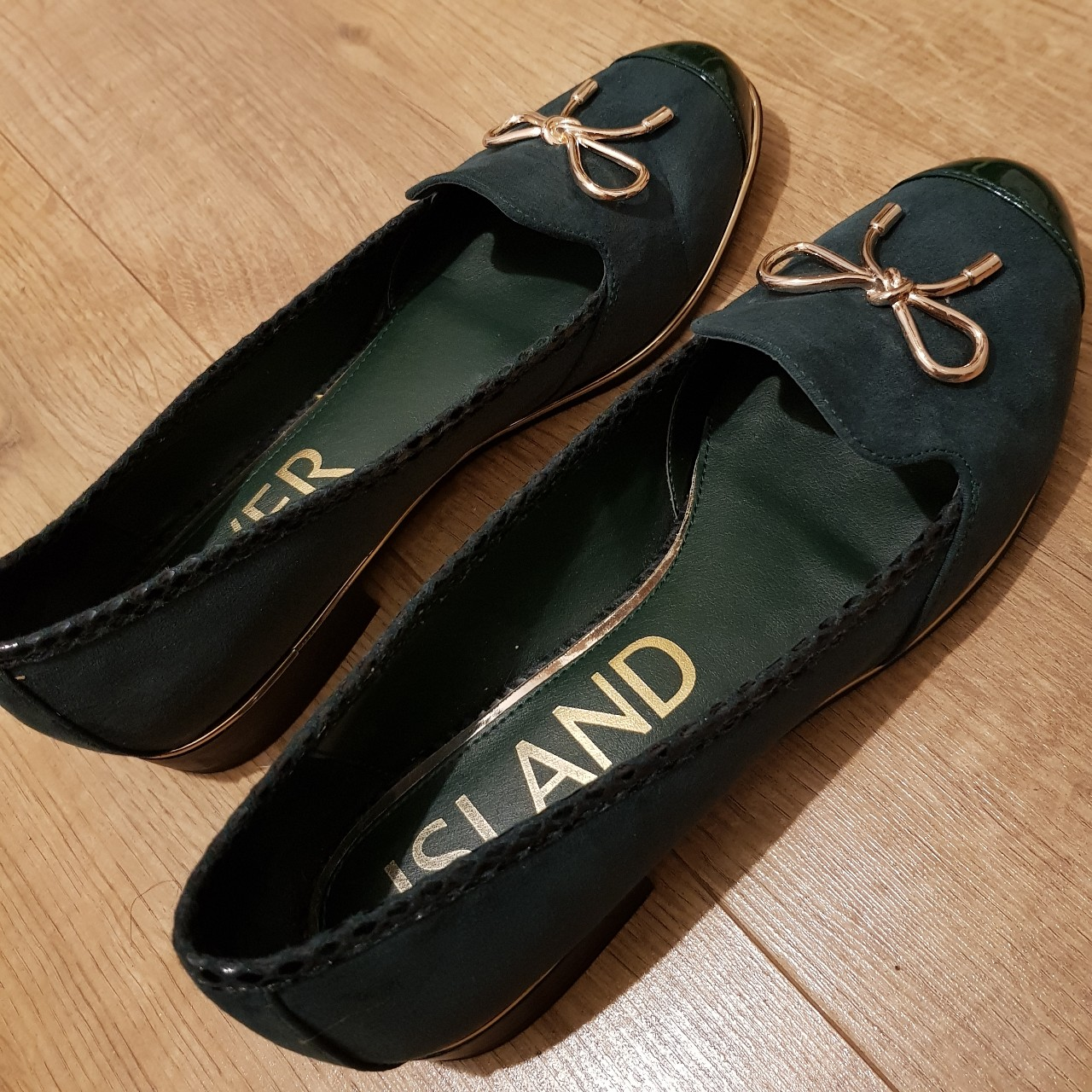 Dark green River Island dolly shoes