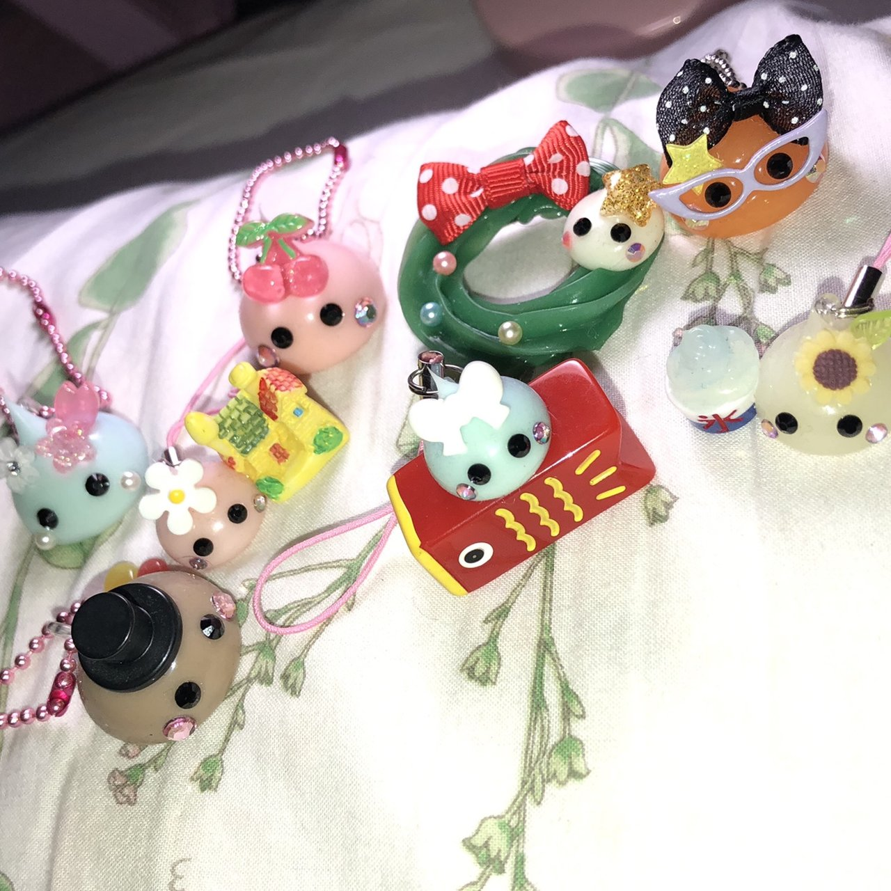 free shipping set of 9 hoppe chan keychains   phone of them - Depop beba71a0c14b