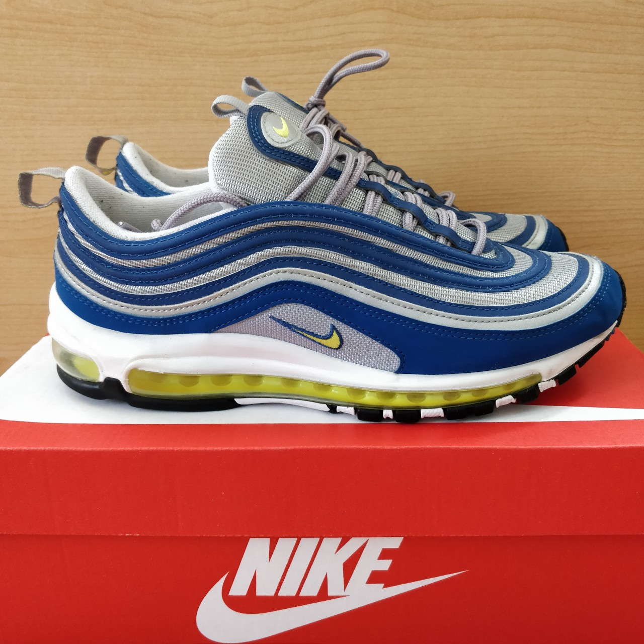 huge sale c7e00 18d6a RARE NIKE AIR MAX 97 OG ATLANTIC BLUE 🥶🥶 SIZE:... - Depop