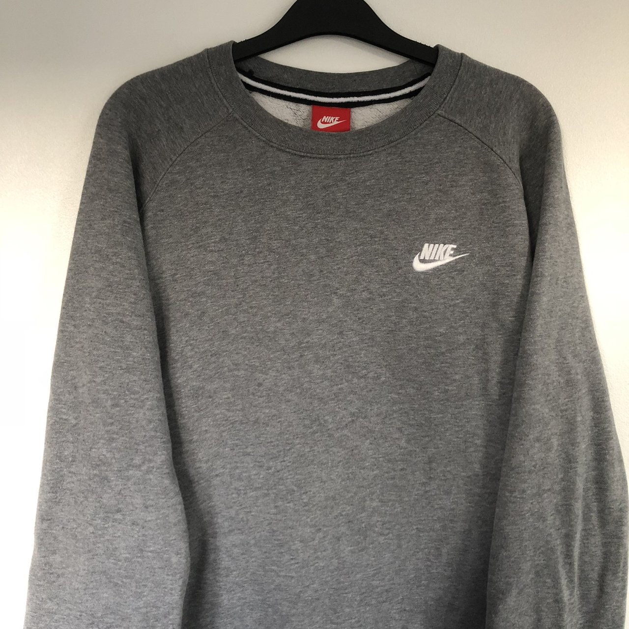 c9fc4c6e21b1 PRICE DROP  Grey Nike sweater. Great condition! embroider L - Depop