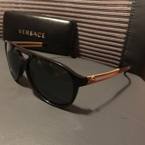 2361f40f600c ️PRICE DROP‼️Authentic Versace sunglasses with case. Will - Depop