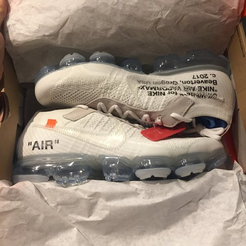 f5d710d59f2 Nike Off White Vapormax IN HAND from offspring raffle. Size - Depop