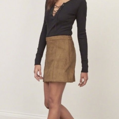 bb55d99de @freyaeverett. 2 months ago. Cirencester, United Kingdom. Abercrombie and  Fitch Tan Suede Skirt