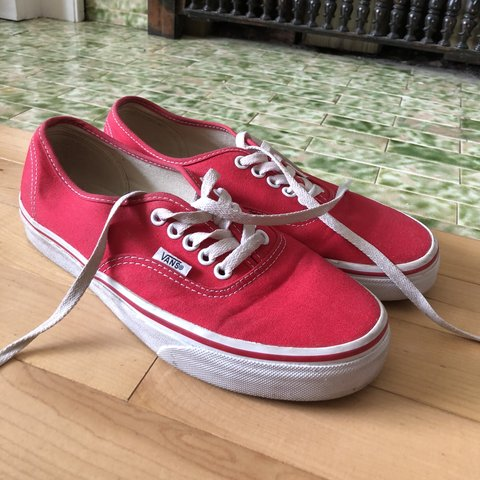 249ad31681e Red Vans Authentic Style Women s size 8 Men s size  redvans - Depop