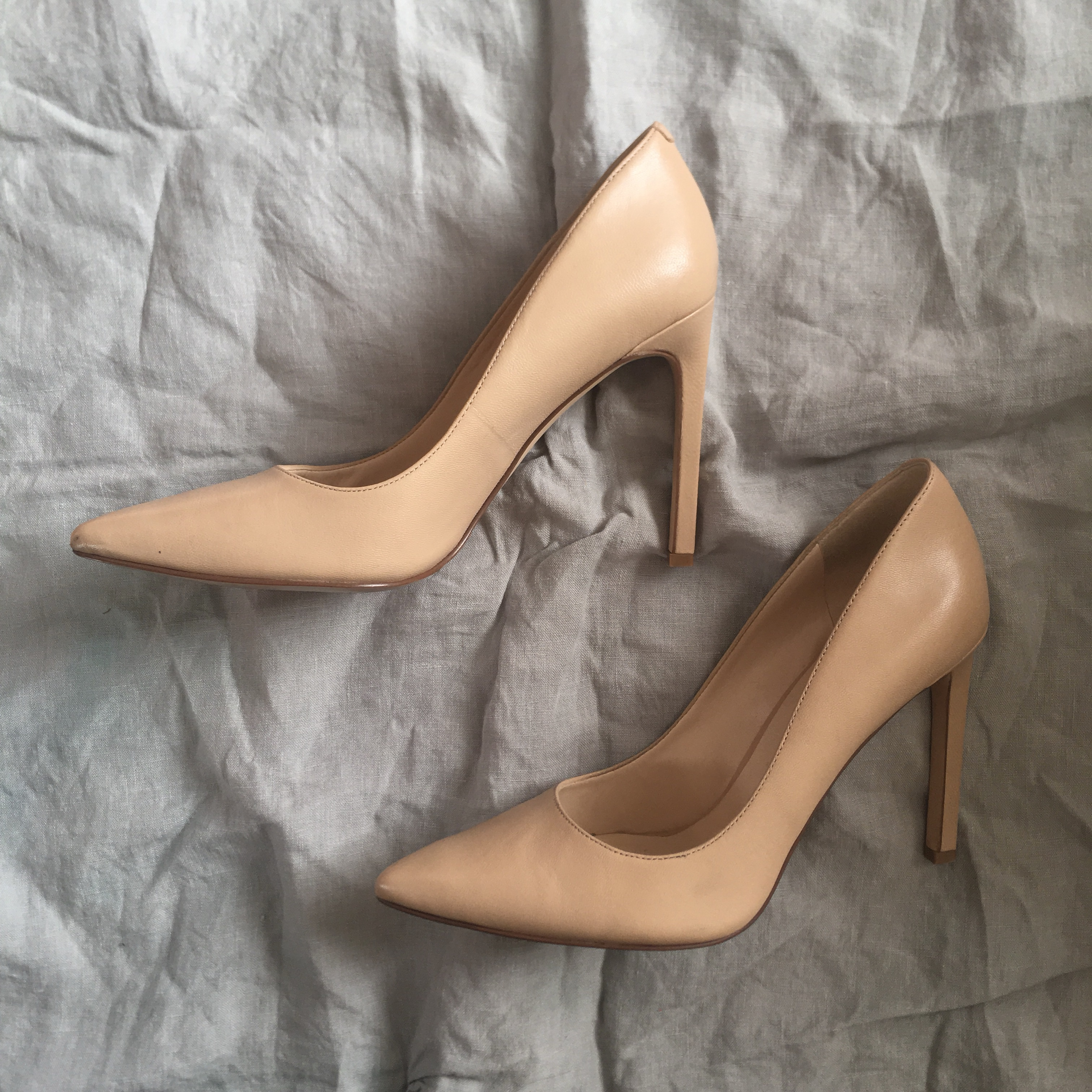 well known presenting new products Nine West Tatiana Pointy Toe Pump Heels Classic Nude ...