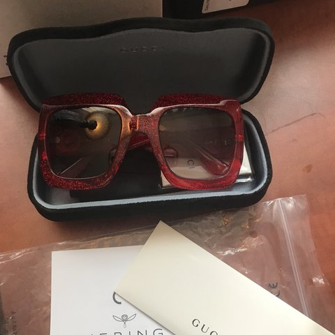 78a7faa2915 Gucci Women s Urban Collection GG0053S GG 0053 S 003 Red Red - Depop
