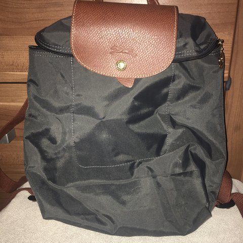 2a80e76fb7 Longchamp Le pliage backpack/ gun metal colour/ only been in - Depop