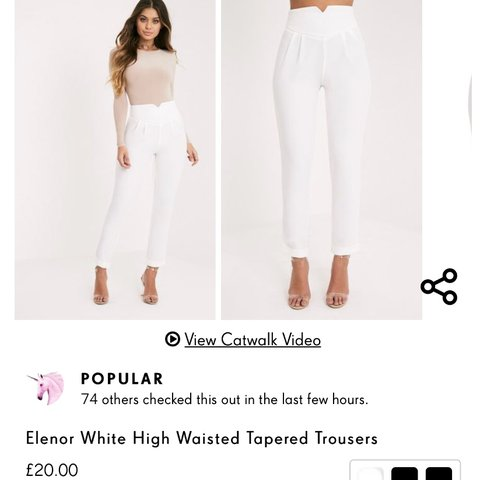 8202ebe698 SALE PRICE!!!!!!!! Pretty little thing white trousers   plt - Depop