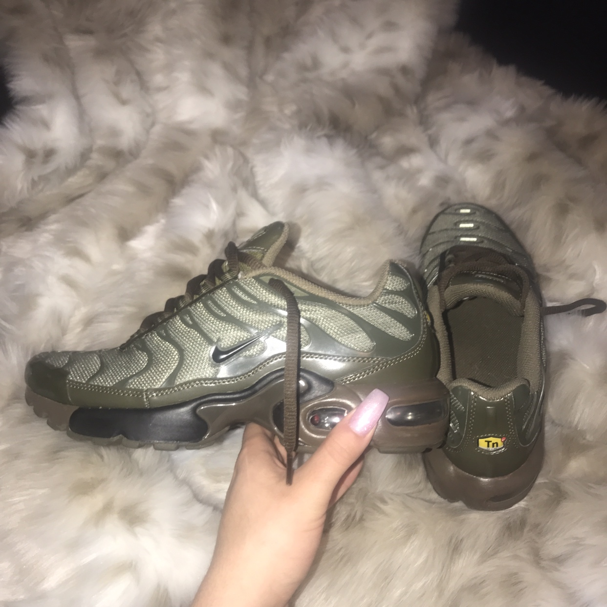 "exquisite design best service available Nike Air Max Plus (GS) ""Olive Cargo"" sold out on... - Depop"