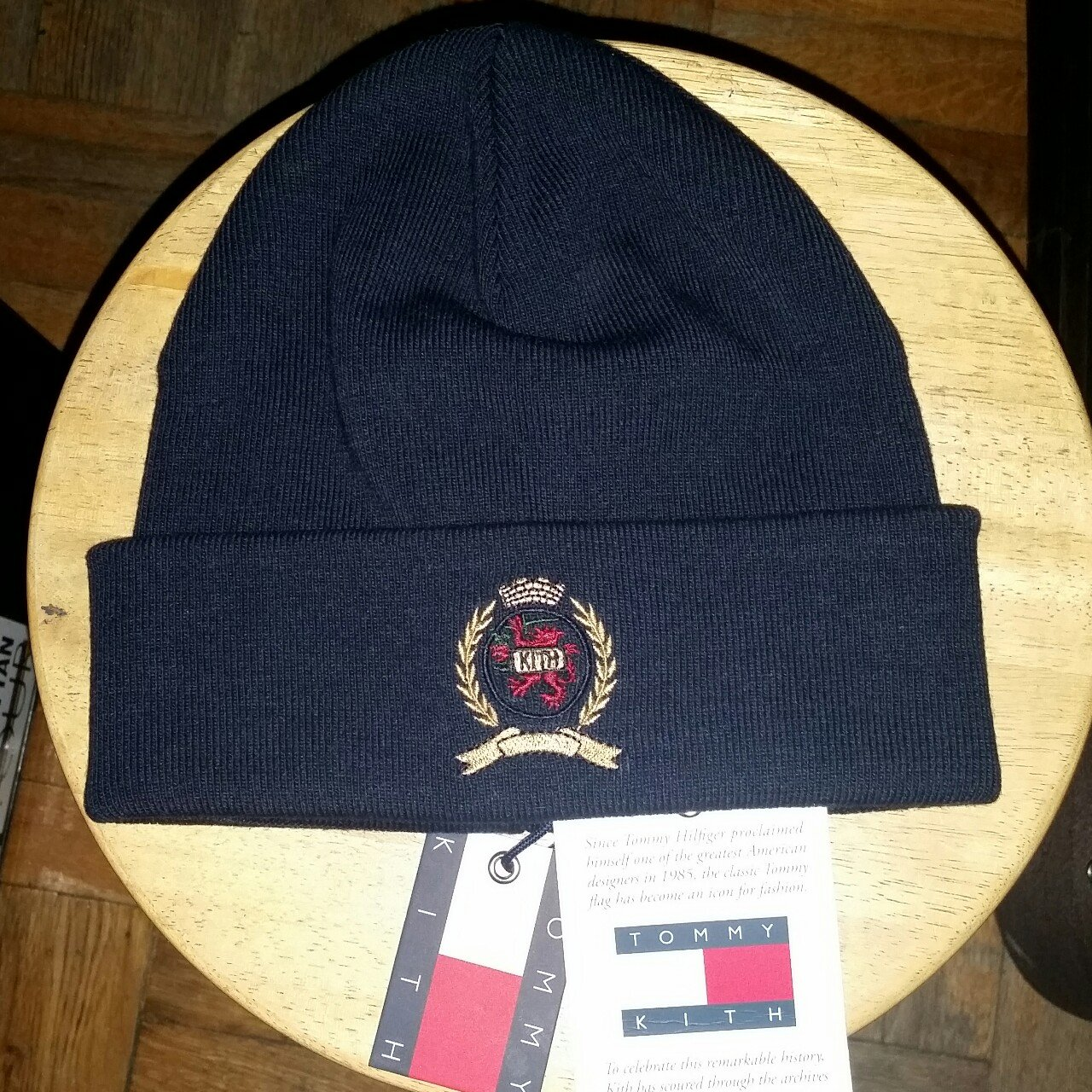 ae2437701c3 100% authentic Kith x Tommy Hilfiger Crest beanie size  one - Depop
