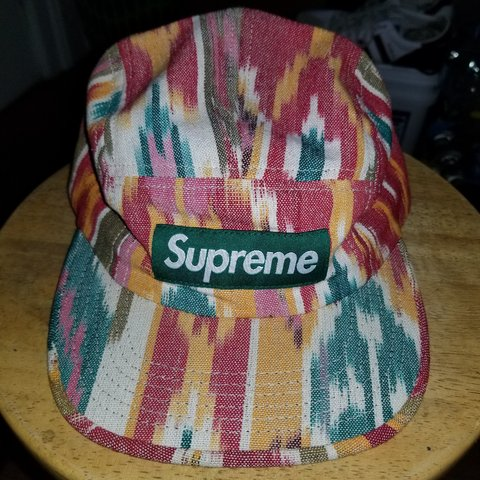 ab85ebbf 100% authentic, Supreme Ikat Camp Cap SS12. Great preowned - Depop