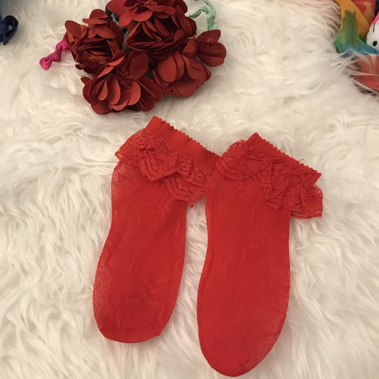 2b2d8d824b9 1 pair 🍒 Red lace