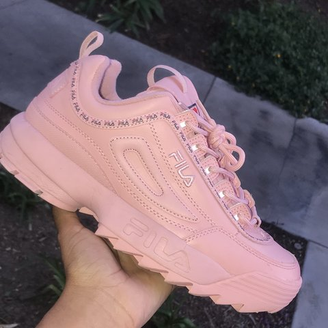 0102f171e2ac 🌸Fila Disruptor II Premium Repeat in pink 🌸Worn but in 9 - Depop