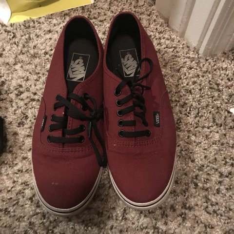 5a57ec88a8f6 Maroon low rise vans. Worn only a couple times. Size 8. - Depop