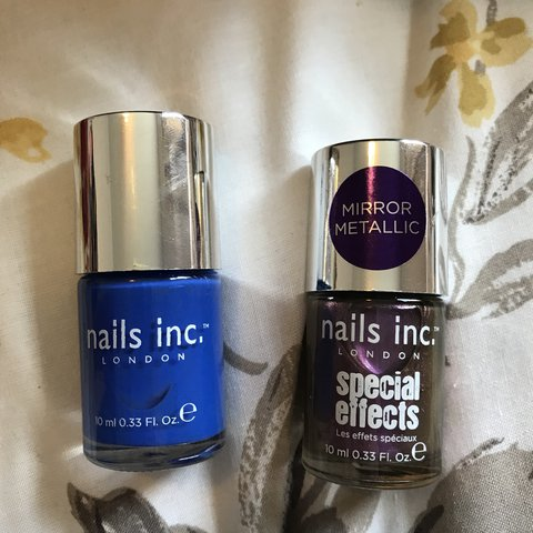 Nails inc blue and special effects purple nail polish - Depop