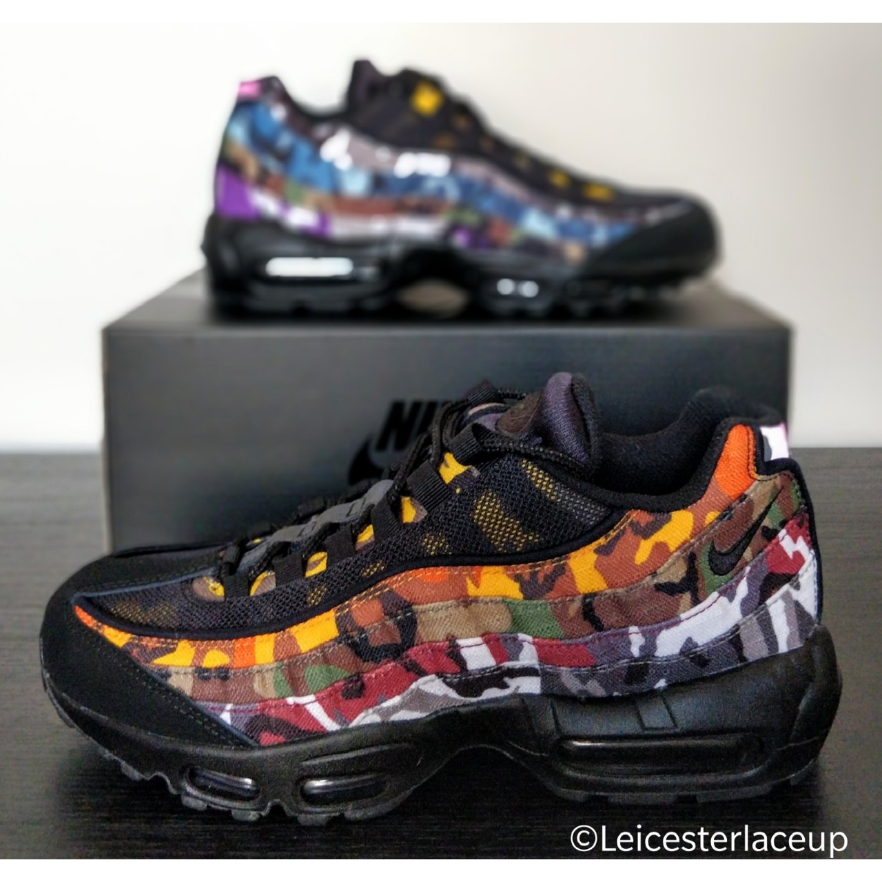 best loved d41ef 71b32 Nike Air Max 95 'ERDL Party' Black Camo UK size 7 - Depop
