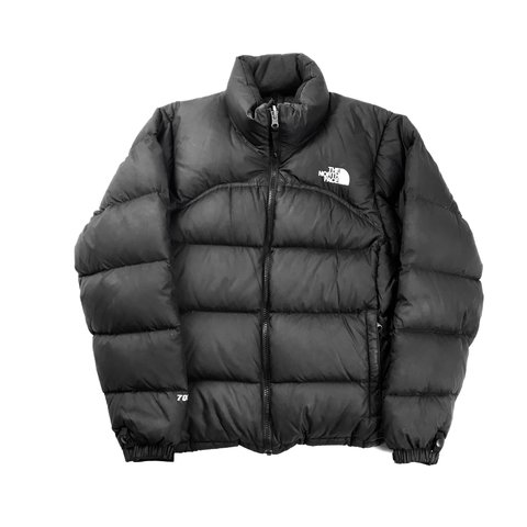 94563dde645d The North Face Puffer Jacket Black   White 700 Fill Down Do - Depop
