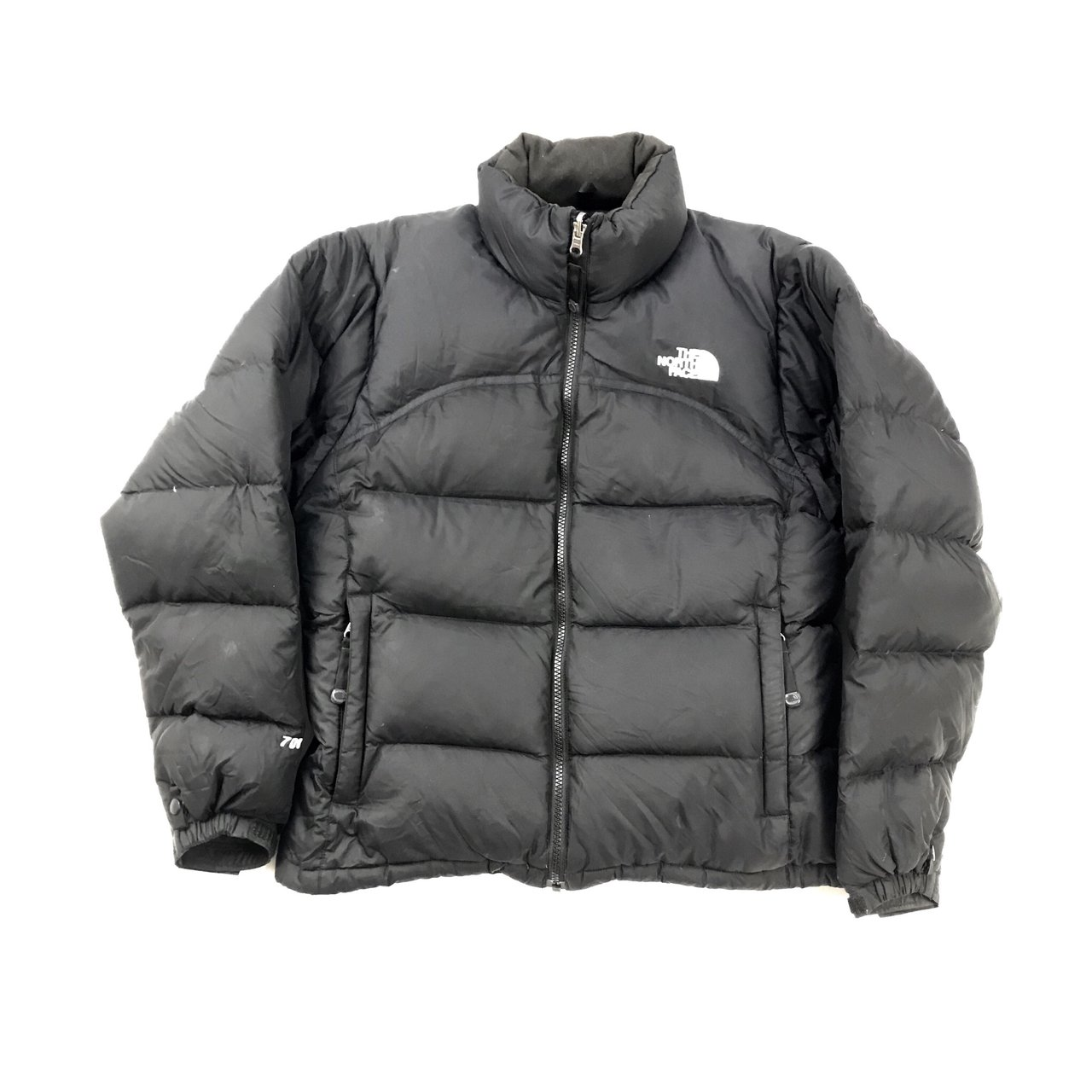 The North Face Puffer Jacket Black   White 700 Fill Down - Depop 4affa46ce