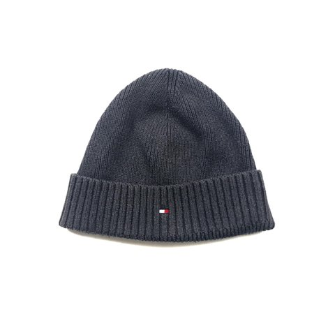 76482d0096bb0 Tommy Hilfiger Beanie Hat In Navy One Size Fits All Good - Depop