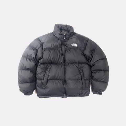 e2a90c69bf The North Face Nuptse Puffer Jacket In Back W  White 700 - Depop