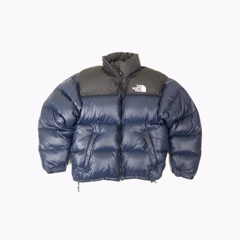 1375afd68a Vintage The North Face Nuptse Puffer Jacket In Back   Blue - Depop