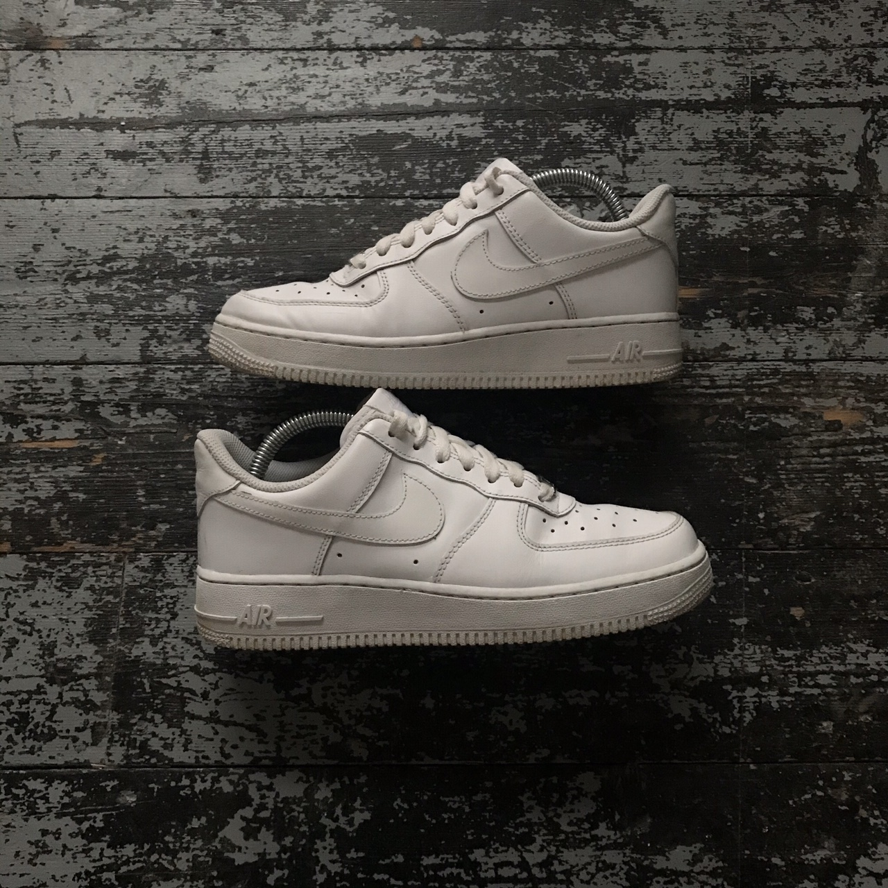 Nike Air Force 1's Ones In White   Men's Size Uk 6 by Depop