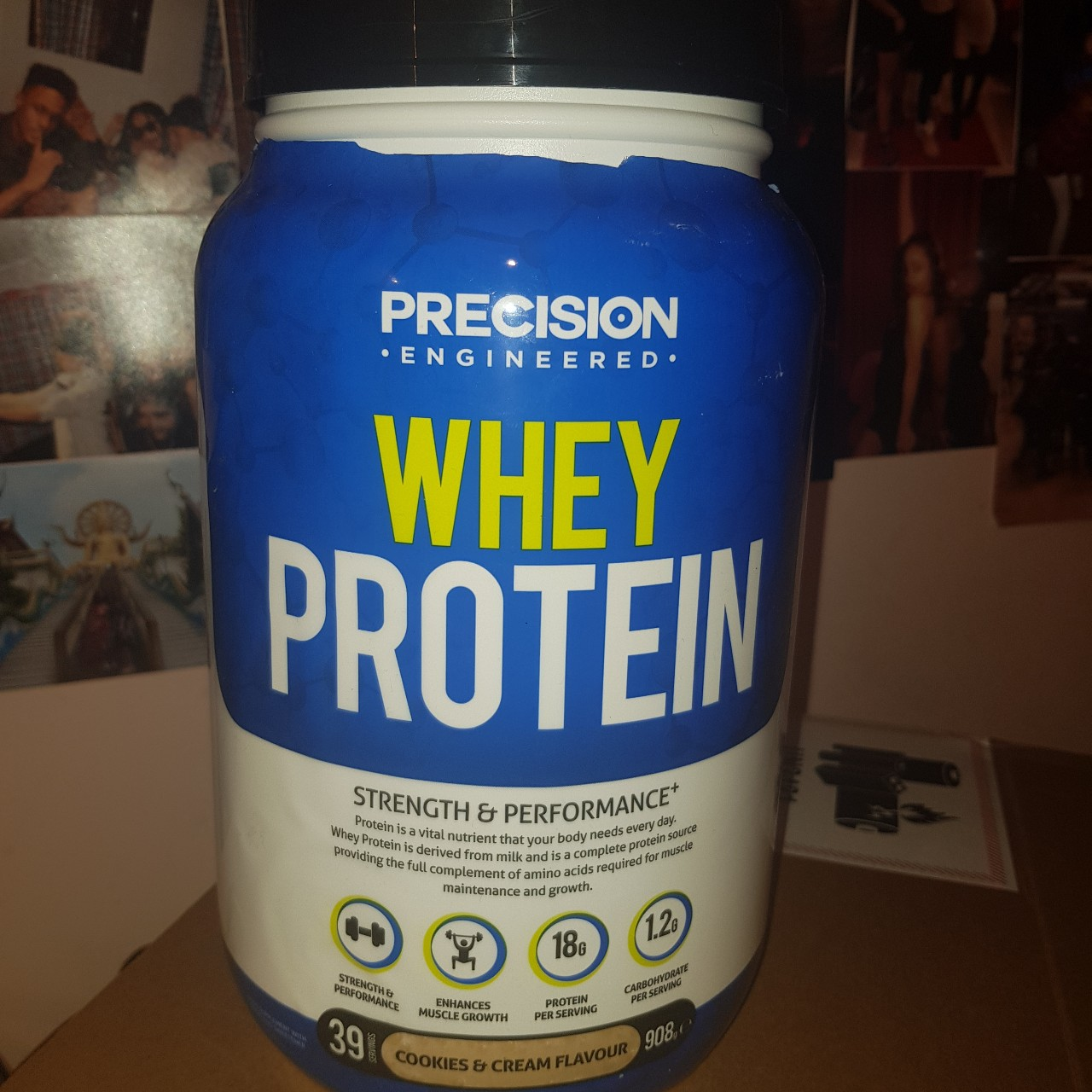 WHEY PROTEIN POWDER - COOKIES AND CREAM    - Depop