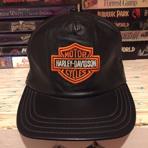 6dd27b125cc08 Vintage Harley Davidson Hat Size Adult Used In good Smoke - Depop