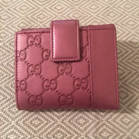 b32f4d6a4ddb 100% AUTHENTIC Gucci monogram purple pink flip wallet 💮💮💮 - Depop