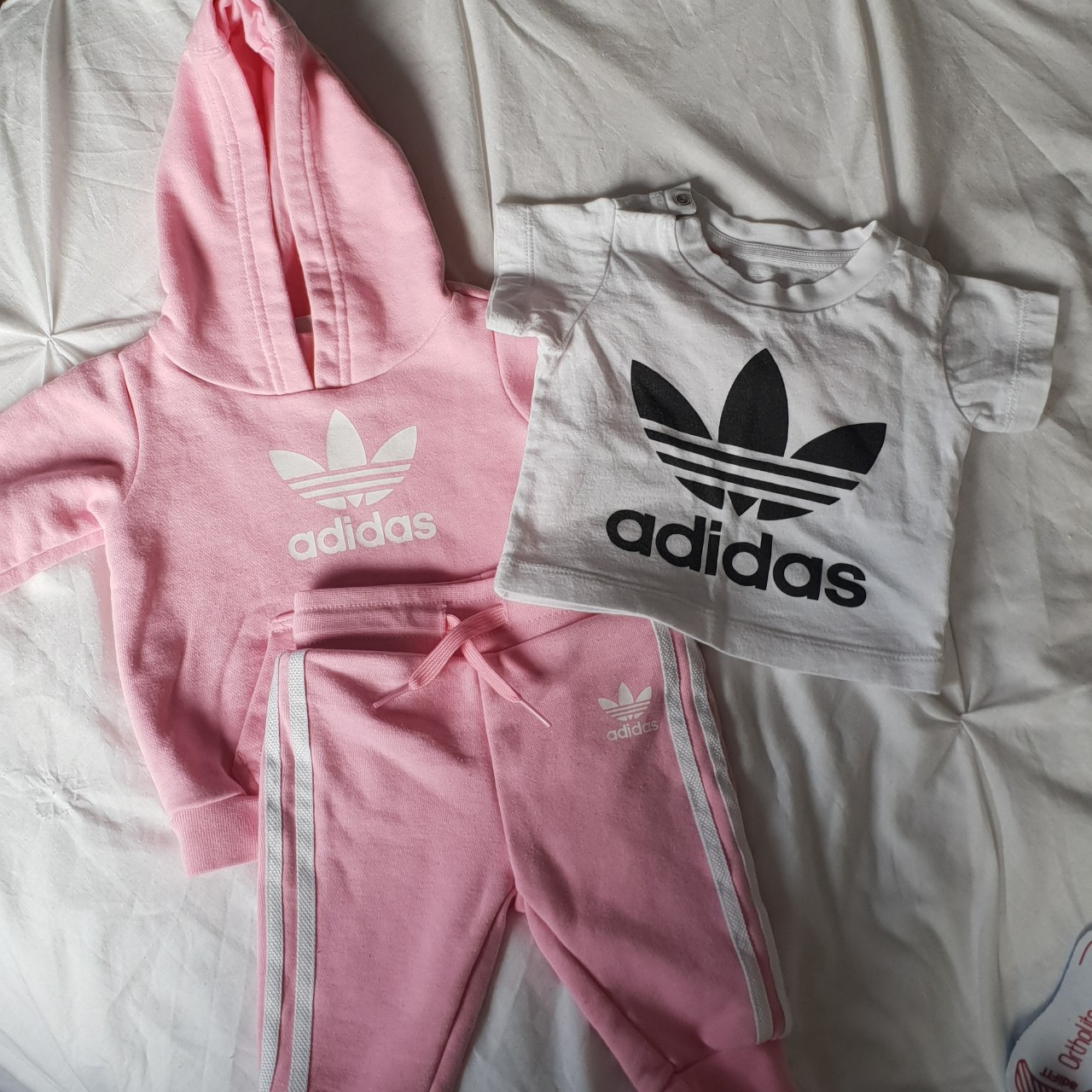 Secretar total camisa  Baby Girl 0-3 months Adidas tracksuit and Adidas... - Depop