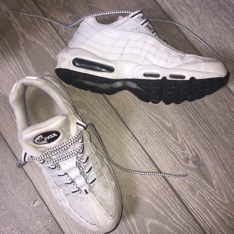 c8c40fe888 @lucynics. 8 months ago. Peterculter, United Kingdom. Nike air max 95 ,  triple white 7/10 condition , been cleaned ...