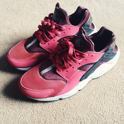 new product 8ffd9 9ffdc  nike  huarache burgundy, size 8.5(uk)- 0