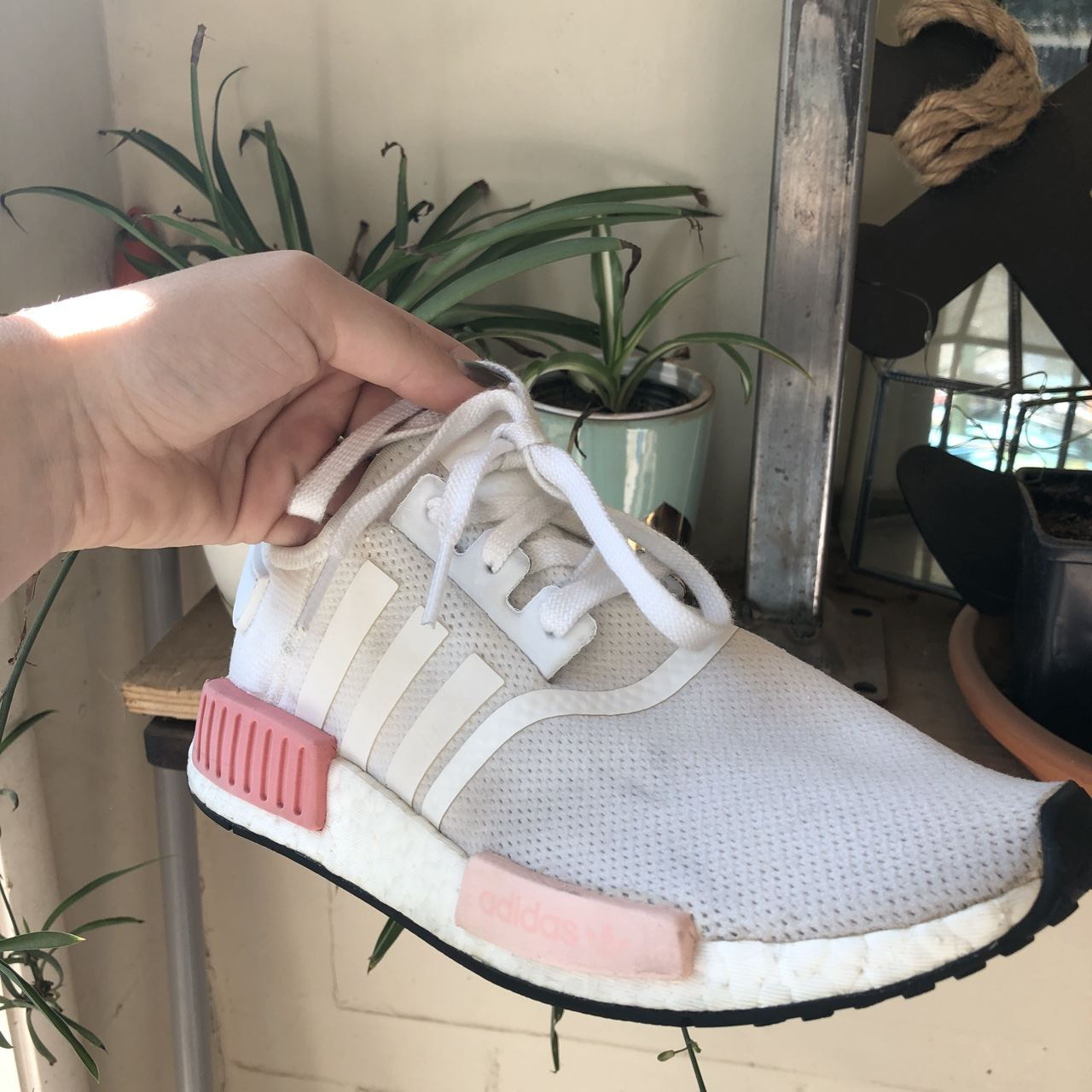 very cute white and pink nmds. these
