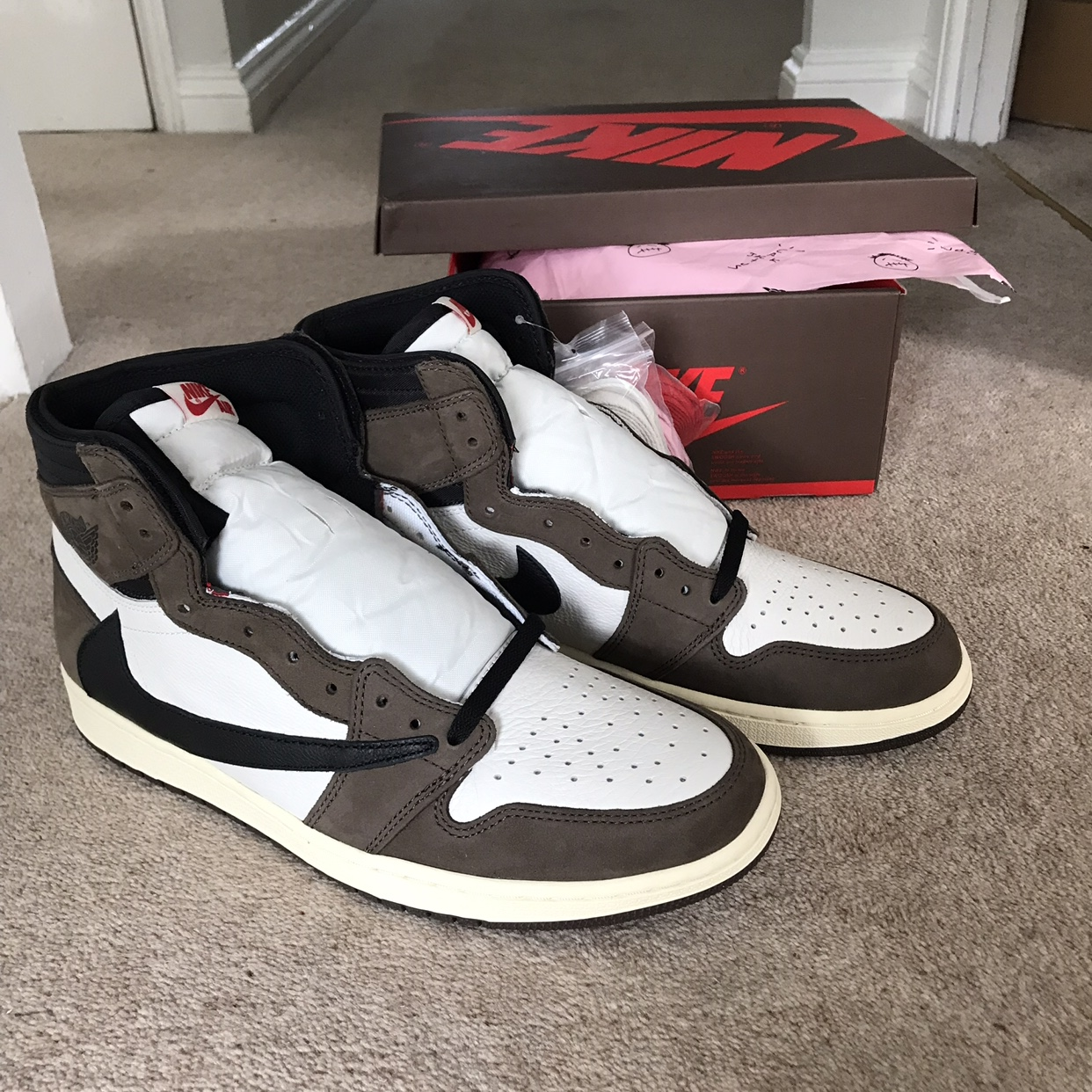 san francisco 2963f 378ad Nike air Jordan 1 travis scott Sizing: US 12, UK... - Depop