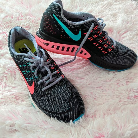 4d4018a40eb1f Women's Nike Zoom Structure 18 Running sneakers They're cute - Depop