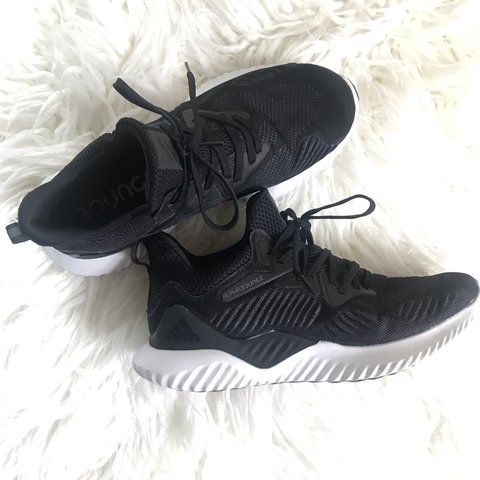 08624556c72d0 ☁️ADIDAS ALPHA BOUNCE BEYOND RUNNING SHOES ☁ Black w white - Depop