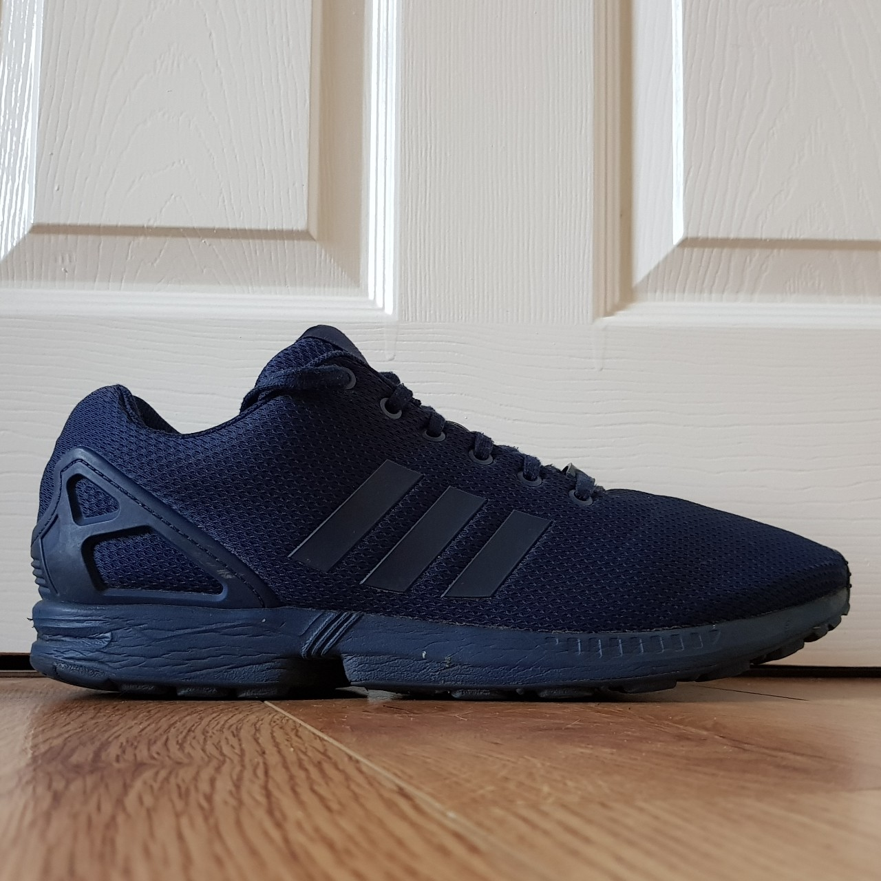 purchase cheap 6580f 88717 Good condition Navy blue Adidas ZX... - Depop