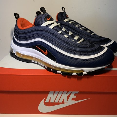 Nike Air Max 97 Blue Red Yellow White Midnight Navy Depop