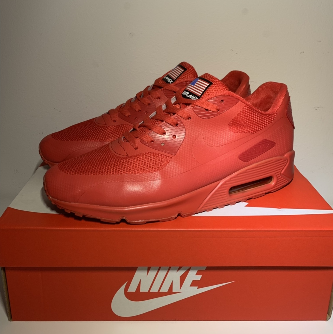 Nike air max 90 Hyper fuse Independence Day Depop