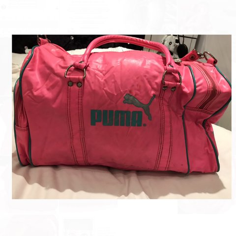 390234794c Vintage 1980 s Puma Sports   Gym bag. A bit worn as you can - Depop