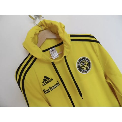 63223ddb1 Men s Adidas Columbus Crew Long Sleeve Hooded Top Size   to - Depop