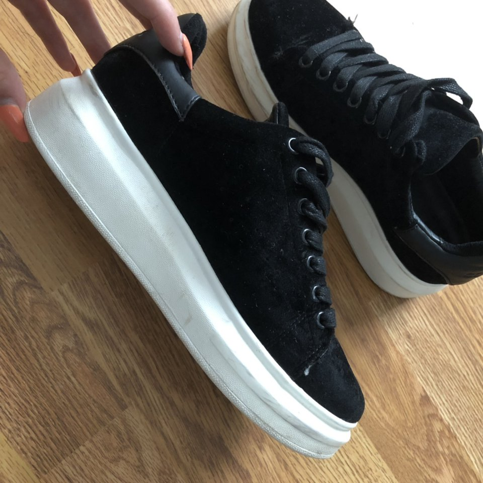Cortica suede black trainers bought